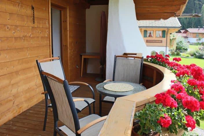 Ferienwohnung Sonja - möblierte Terrasse