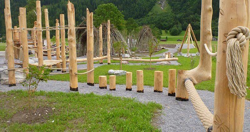 Kinderspielplatz beim Naturparkhaus Tiroler Lech in Elmen