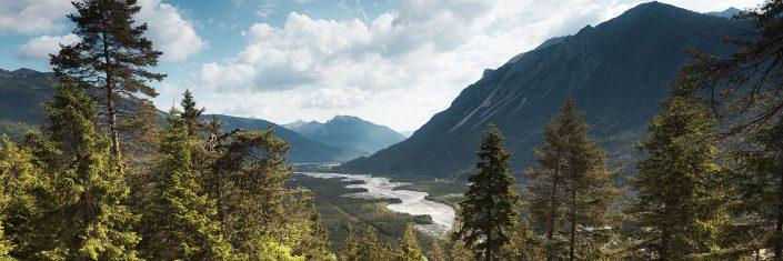 Naturparkregion Tiroler Lechtal - Blick auf die Lechauen