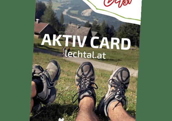 Lechtal Aktiv Card - Kostenlose und stark reduzierte Freizeitmöglichkeiten für den Sommerurlaub im Lechtal