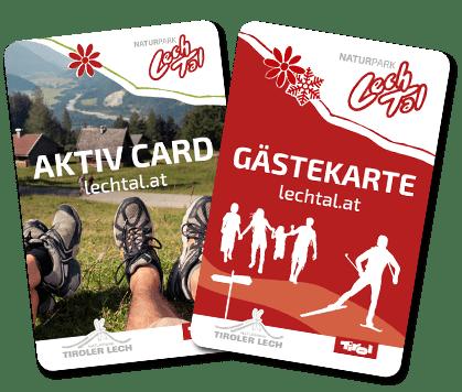 Lechtal Aktiv Card und Lechtal Gästekarte
