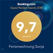 Ferienwohnung Sonja Booking Award Bewertung Außergewöhnlich