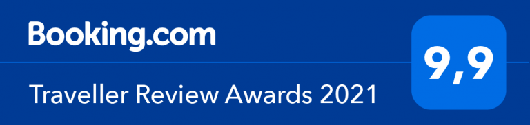 Booking.vom Traveller Review Award 2021 - Ferienwohnung Sonja 9,9 Punkte